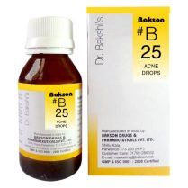 Dr. Bakshi B drops B25 (Acne Drops), Homeopathy medicine for Pimples, Black heads, Eczema, Skin eruptions